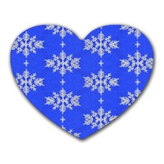 Background For Scrapbooking Or Other Snowflakes Patterns Heart Mousepads