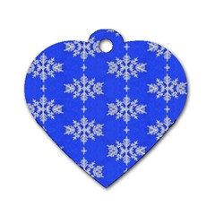 Background For Scrapbooking Or Other Snowflakes Patterns Dog Tag Heart (One Side)