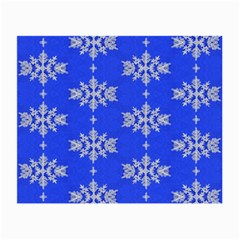 Background For Scrapbooking Or Other Snowflakes Patterns Small Glasses Cloth (2-Side)
