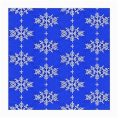 Background For Scrapbooking Or Other Snowflakes Patterns Medium Glasses Cloth (2-Side)
