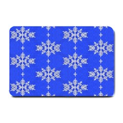 Background For Scrapbooking Or Other Snowflakes Patterns Small Doormat