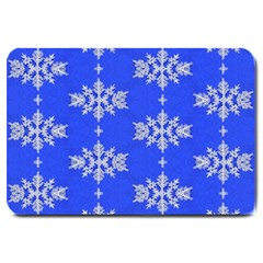Background For Scrapbooking Or Other Snowflakes Patterns Large Doormat