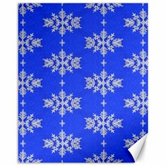 Background For Scrapbooking Or Other Snowflakes Patterns Canvas 11  x 14