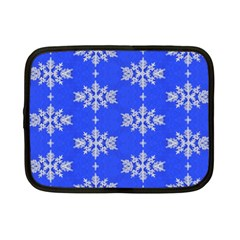 Background For Scrapbooking Or Other Snowflakes Patterns Netbook Case (small)