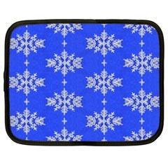 Background For Scrapbooking Or Other Snowflakes Patterns Netbook Case (Large)