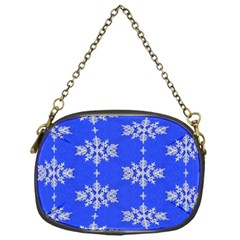Background For Scrapbooking Or Other Snowflakes Patterns Chain Purses (One Side)