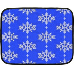 Background For Scrapbooking Or Other Snowflakes Patterns Fleece Blanket (Mini)