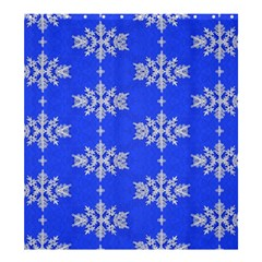Background For Scrapbooking Or Other Snowflakes Patterns Shower Curtain 66  x 72  (Large)