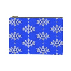 Background For Scrapbooking Or Other Snowflakes Patterns Cosmetic Bag (Large)