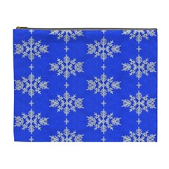 Background For Scrapbooking Or Other Snowflakes Patterns Cosmetic Bag (XL)