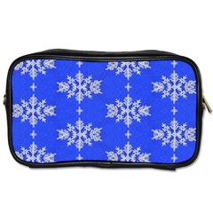 Background For Scrapbooking Or Other Snowflakes Patterns Toiletries Bags 2-Side