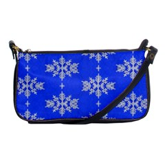 Background For Scrapbooking Or Other Snowflakes Patterns Shoulder Clutch Bags