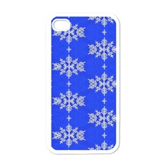 Background For Scrapbooking Or Other Snowflakes Patterns Apple iPhone 4 Case (White)