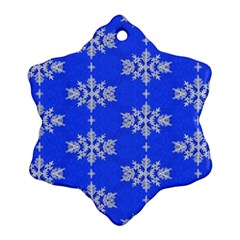 Background For Scrapbooking Or Other Snowflakes Patterns Snowflake Ornament (Two Sides)