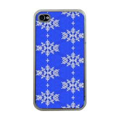 Background For Scrapbooking Or Other Snowflakes Patterns Apple iPhone 4 Case (Clear)