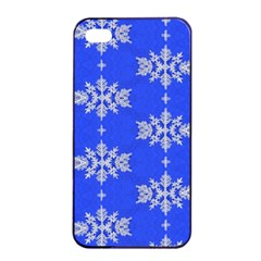Background For Scrapbooking Or Other Snowflakes Patterns Apple iPhone 4/4s Seamless Case (Black)