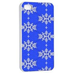 Background For Scrapbooking Or Other Snowflakes Patterns Apple iPhone 4/4s Seamless Case (White)