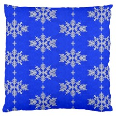 Background For Scrapbooking Or Other Snowflakes Patterns Large Cushion Case (One Side)