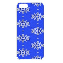 Background For Scrapbooking Or Other Snowflakes Patterns Apple Iphone 5 Seamless Case (white)