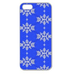 Background For Scrapbooking Or Other Snowflakes Patterns Apple Seamless iPhone 5 Case (Clear)