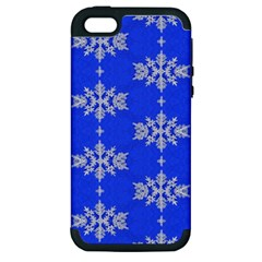 Background For Scrapbooking Or Other Snowflakes Patterns Apple iPhone 5 Hardshell Case (PC+Silicone)