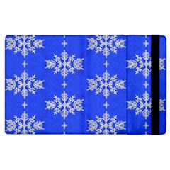 Background For Scrapbooking Or Other Snowflakes Patterns Apple iPad 2 Flip Case