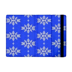 Background For Scrapbooking Or Other Snowflakes Patterns Apple iPad Mini Flip Case