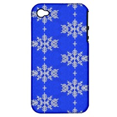 Background For Scrapbooking Or Other Snowflakes Patterns Apple iPhone 4/4S Hardshell Case (PC+Silicone)