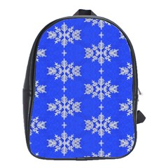 Background For Scrapbooking Or Other Snowflakes Patterns School Bags (xl)
