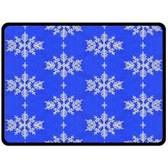 Background For Scrapbooking Or Other Snowflakes Patterns Double Sided Fleece Blanket (large)