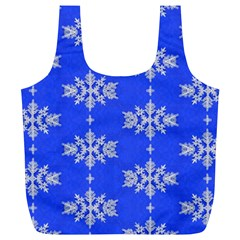 Background For Scrapbooking Or Other Snowflakes Patterns Full Print Recycle Bags (L)