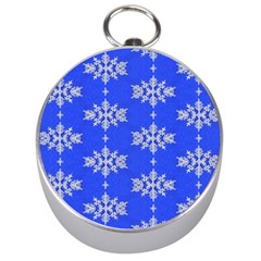 Background For Scrapbooking Or Other Snowflakes Patterns Silver Compasses