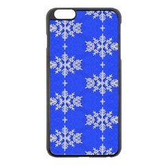 Background For Scrapbooking Or Other Snowflakes Patterns Apple iPhone 6 Plus/6S Plus Black Enamel Case
