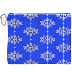 Background For Scrapbooking Or Other Snowflakes Patterns Canvas Cosmetic Bag (XXXL)
