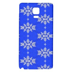 Background For Scrapbooking Or Other Snowflakes Patterns Galaxy Note 4 Back Case