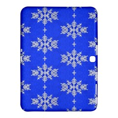 Background For Scrapbooking Or Other Snowflakes Patterns Samsung Galaxy Tab 4 (10.1 ) Hardshell Case