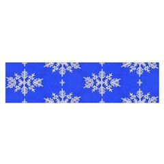 Background For Scrapbooking Or Other Snowflakes Patterns Satin Scarf (oblong)