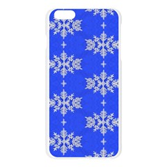 Background For Scrapbooking Or Other Snowflakes Patterns Apple Seamless iPhone 6 Plus/6S Plus Case (Transparent)
