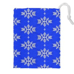 Background For Scrapbooking Or Other Snowflakes Patterns Drawstring Pouches (XXL)