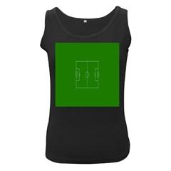 Soccer Field Football Sport Green Women s Black Tank Top