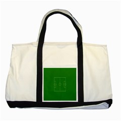 Soccer Field Football Sport Green Two Tone Tote Bag