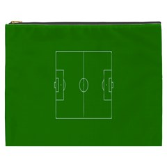 Soccer Field Football Sport Green Cosmetic Bag (xxxl)