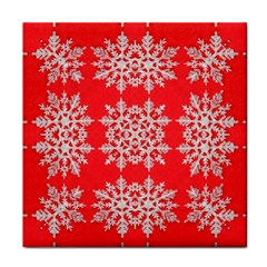 Background For Scrapbooking Or Other Stylized Snowflakes Tile Coasters