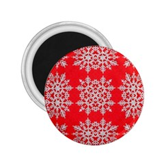 Background For Scrapbooking Or Other Stylized Snowflakes 2.25  Magnets