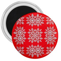 Background For Scrapbooking Or Other Stylized Snowflakes 3  Magnets
