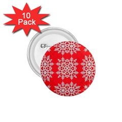 Background For Scrapbooking Or Other Stylized Snowflakes 1.75  Buttons (10 pack)