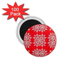 Background For Scrapbooking Or Other Stylized Snowflakes 1 75  Magnets (100 Pack)