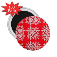 Background For Scrapbooking Or Other Stylized Snowflakes 2.25  Magnets (100 pack)