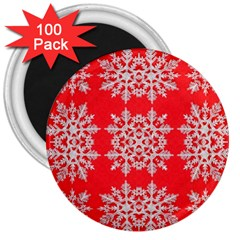 Background For Scrapbooking Or Other Stylized Snowflakes 3  Magnets (100 pack)