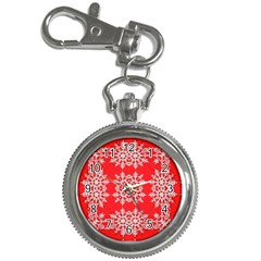 Background For Scrapbooking Or Other Stylized Snowflakes Key Chain Watches